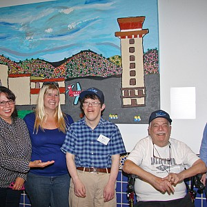 PathPoint Gifts Original Painting by Artists with Disabilities  to the Santa Barbara Airport